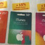 Bis zu 20% iTunes-Bonus-Guthaben bei Penny