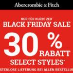 Bklack Friday Sale bei A&F + Kostenfrei Lieferung