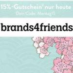 brands4friends: 15% Rabatt (nur heute)