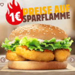 Burger King: Chicken Nugget Burger für 1€ / 2 für 1,99€