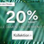 C&A: 20% auf T-Shirts + 10% NL + ab 19€ keine VK