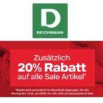 Deichmann: 20% Extra Rabatt auf Sale