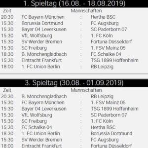 Der Fussball Bundesliga Spielplan 2019 20 Als Pdf Kostenlos