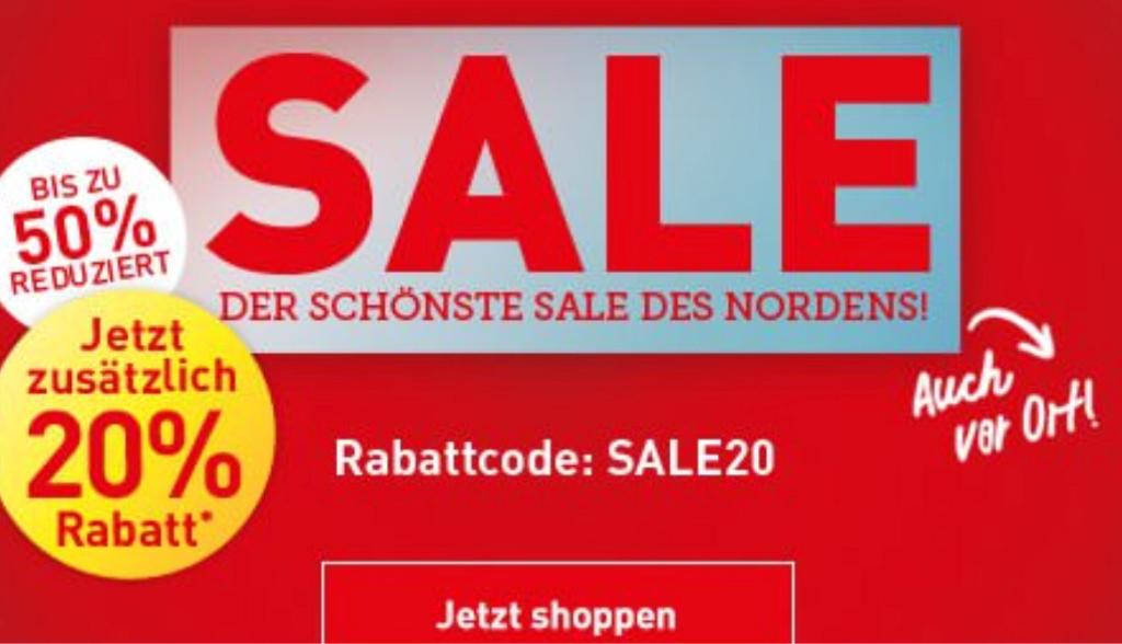 dodenhof sale bis 50 reduziert 20 rabatt mit gutscheincode