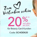 Douglas: bis zu 20% für Beauty Card Inhaber (MBW 50€)