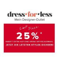 dress for less last piece 25 rabatt auf reduzierte artikel