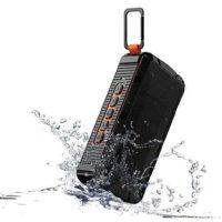 easyacc v3 wasserdicht tragbar lautsprecher bluetooth 4 2 mit integriertem mikrofon ipx6 schwarz orange