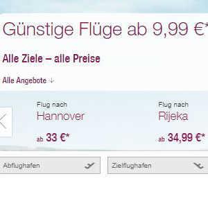 eurowings guenstige fluege schon ab 999e