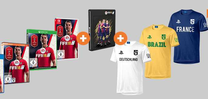 fifa 18 steelbook playstation trikot fuer 29e
