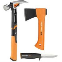 fiskars werkzeugset universalhammer axt x5 und messer k40 fuer 4999e statt 7179