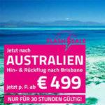 Flash Sale Australien: Hin- und Rückflug Brisbane ab €499€