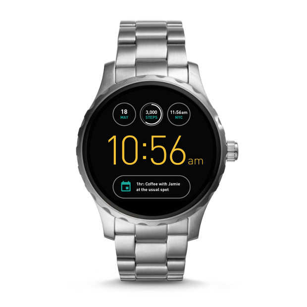 fossil herren smartwatch q marshal stainless steel nur 169 e inkl versand statt 249 e