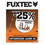 Fuxtec: 25% Rabatt auf ausgewählte Gartengeräte und Artikel!