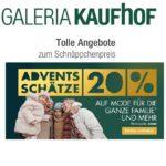 Galeria Kaufhof: 20% Rabatt auf Mode, Uhren, Schmuck und mehr!