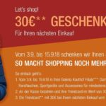 Galeria Kaufhof - für 150€ Einkaufswert erhaltet Ihr 30€ Rabatt als Gutschein für den nächsten Einkauf