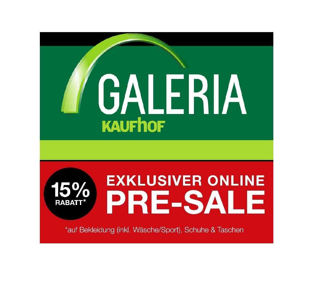 galeria kaufhof pre sale mit 15 rabatt auf bekleidung 1