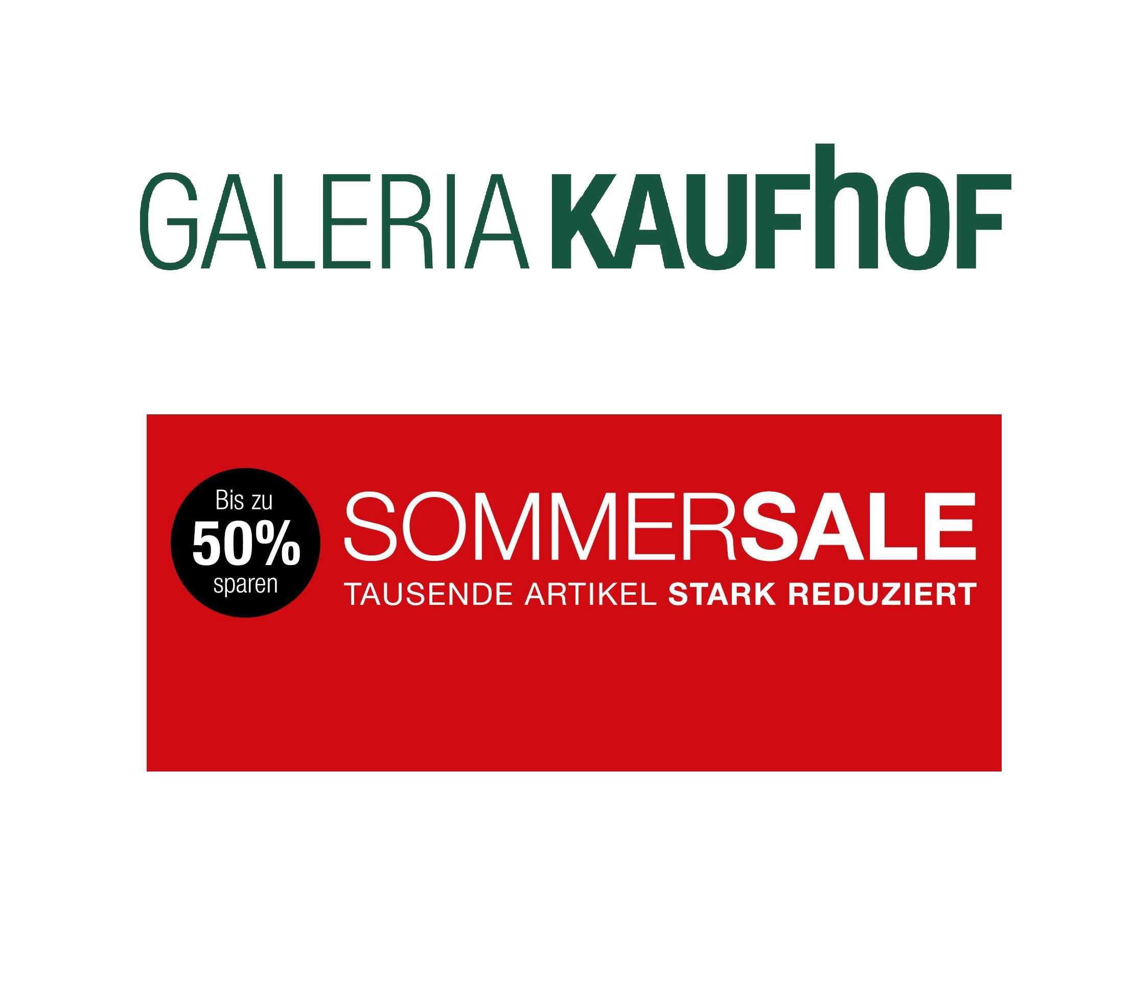 galeria kaufhof sommersale bis zu 50 sparen