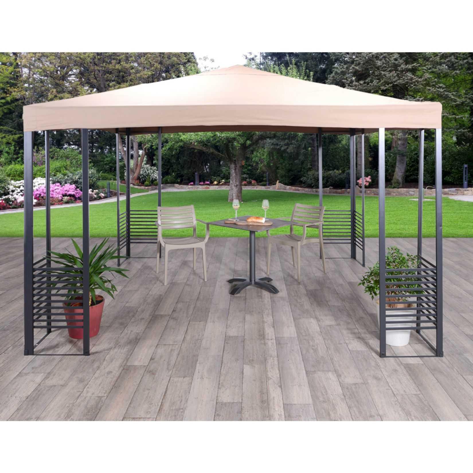 garden impressions alu pavillon 3x3m fuer 13945e inkl versand statt 259e