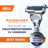 gillette skinguard sensitive rasierer gratis testen 1