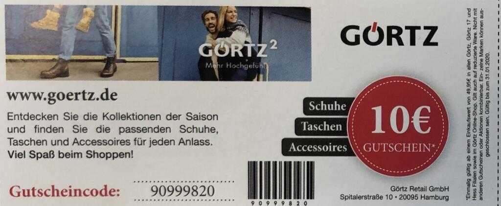 Görtz Gutscheincode 10 : g rtz 10 rabatt ab 49 95 online und offline mytopdeals ~ A.2002-acura-tl-radio.info Haus und Dekorationen