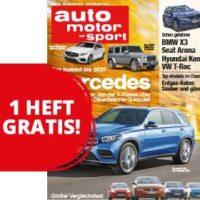 gratis 1 ausgabe auto motor und sport