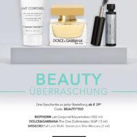 gratis beautytrio bei douglas mbw 39e mascara bodylotion duftminiatur