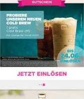 gratis bei dunkin donuts cold brew kaffee in groesse m