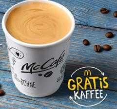 gratis kaffee small bei mcdonalds zur fruehstueckszeit
