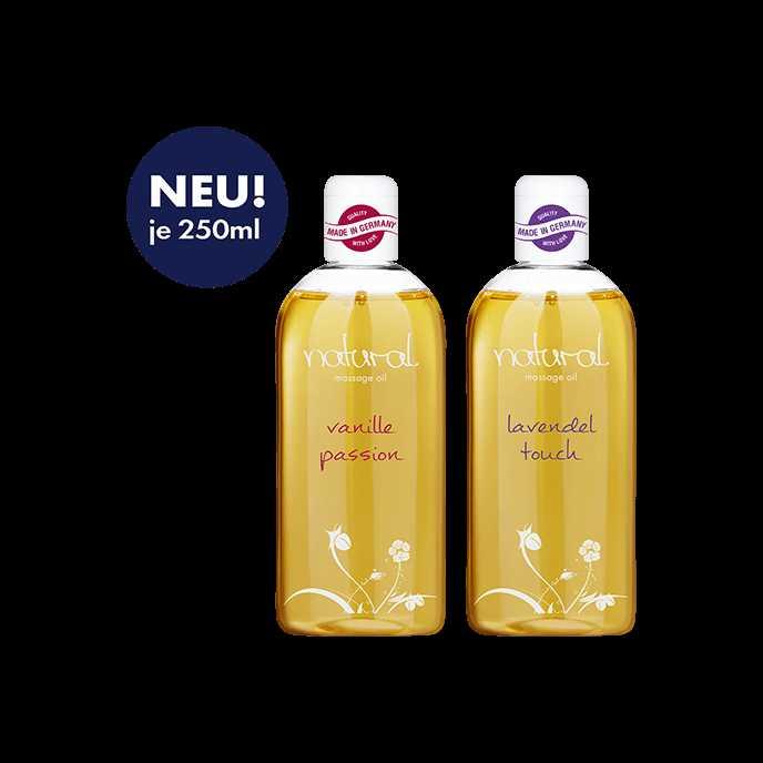 gratis massageoel vanille lavendel je 250 ml 597e versandkosten