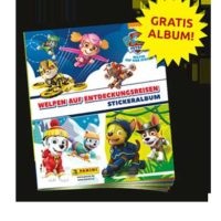 gratis panini stickeralbum paw patrol mit 6 stickern