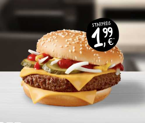 hamburger royal kaese fuer 199 e bei mc donalds 1