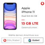 Vodafone Allnet-Flat mit 13GB LTE für 29,99€ mtl. + Apple iPhone 11