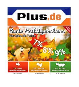 Herbstgutscheine bei Plus.de: Bis zu 9% Rabatt möglich!