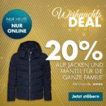 Heute 20% Rabatt bei Galeria-Karstadt-Kaufhof auf Jacken und Mäntel für die ganze Familie