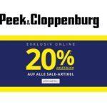Heute bei Peek & Cloppenburg: 20% Extra-Rabatt auf Sale Artikel!