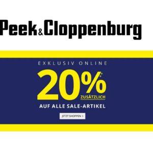 20% Rabatt auf Sale bei Peek & Cloppenburg* z. B. viele