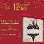 Hunkemöller: NUR HEUTE gibt es 20% Rabatt, wenn ihr 2 oder mehr Teile aus der Noir-Kollektion kauft.