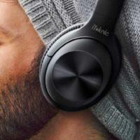 iTeknic Bluetooth Kopfh rer Over Ear mit aktiver Ger uschunterdr ckung Faltbarer Kabellose Hi Fi Stereo CVC 8.0 Noise Cancelling f r Integriertem Mikrofon Freisprechen