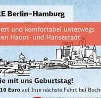 ire berlin hamburg fuer 990e einfache fahrt 1990e hin und rueckfahrt