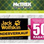 50% Rabatt auf Jack Wolfskin bei McTREK
