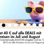 JUST AWAY: 40€ Gutschein auf alle Deals ohne MBW