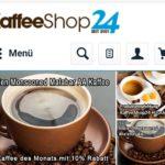 KaffeeShop24: 12% Pfingstrabatt ab 25 Euro Bestellwert