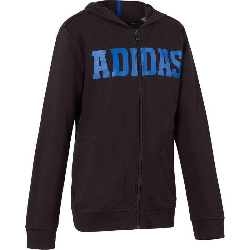 kapuzenjacke gym jungen blauschwarz adidas e15 bei decathlon