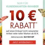 Karstadt: 10€ Rabatt ab 60€ /20€ ab 100€ für Kundenkarten-Inhaber