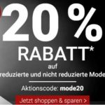 Karstadt: 20% Rabatt auf reduzierte und nicht reduzierte Mode