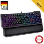 KLIM Vidi Mechanische Tastatur mit Handballenauflage + Mauspad oder Fastcharger