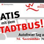 """Kostenlos den """"Wasserburger Stadtbus"""" am """"autofreien Tag (26.09.20) nutzen -regional-"""