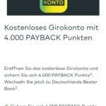 Kostenloses Comdirect Girokonto mit Payback Punkten - 2.000Pkt. über Browser/4.000Pkt. über App