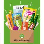 "Kostenloses ""Home-Care-Hero-Pack"" mit Snacks, Drinks & Goodies + gratis Versand"