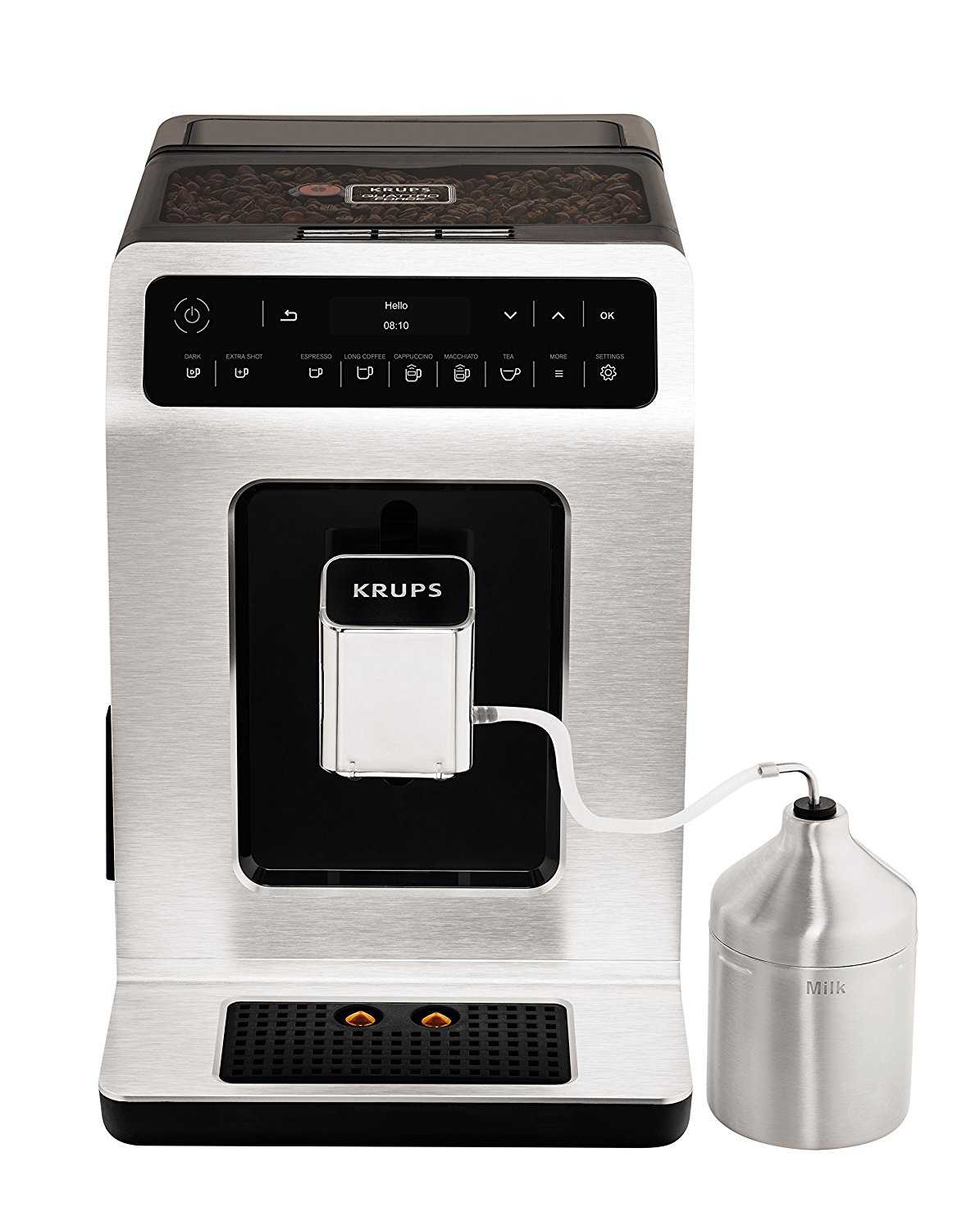 krups kaffeevollautomat ea891d evidence one touch cappuccino oled bedienfeld mit touchcreen 2 3 l metall bei amazon